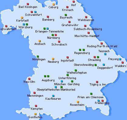 Mittelfranken Karte.Grunderzentren Mittelfranken Bayern