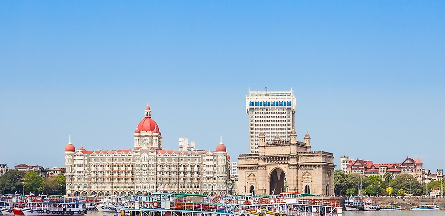 Taj Mahal Palace Hotel und Gateway of India